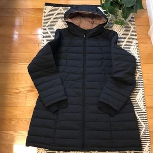 HFX synthetic down long jacket